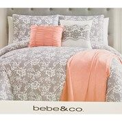 Floral Lace Print 7-Piece King Comforter Set