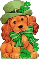 st patrick's day clip art | cute image of a dog dressed up for St. Patrick's day celebrations.
