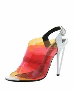 Fendi Colorblock PVC Sandals