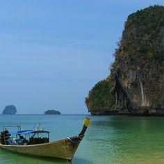 Railay Beach Rock Formation Cliff Krabi Thailand