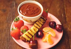Jamie Oliver recipe with Phillips kitchenware,  Boozy chocolate & cherry fondue - Mouths of Mums