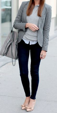 Layering neutrals creates an overall chic fall look to rock this season!