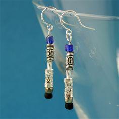 Ten's Sonic Screwdriver Earrings- Spiffing Jewelry - Doctor Who