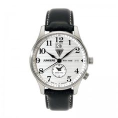 JUNKERS Iron Annie JU52 Quarz, Dual Time, silber, Referenz 6640-1