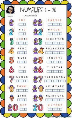 Ejercicio interactivo de Numbers 1-20 writing (2) Number Words Worksheets, Color Worksheets For Preschool, English Activities For Kids, English Grammar For Kids, Learning English For Kids, English Worksheets For Kids, 2nd Grade Worksheets, English Lessons For Kids, Kids English