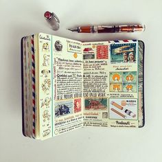 Journal by Jose Naranja. Spread with mixed notes. Some are important and others are irrelevant.