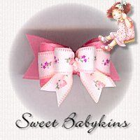"""Dog Bows~""""Sweet Babykins""""  Tiny Ties from Doggie Bow Ties Show Dog Bows."""