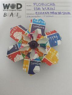 Mossoró, 2 de Novembro de 2014. 5° desafio: dobrar a Florucha que é da autora Isa Klein, origamista brasileira. Foi a 1° vez que dobrei esse origami e foi maravilhoso!!!