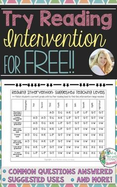 Try Reading Interventions for Free! Out of this World Literacy