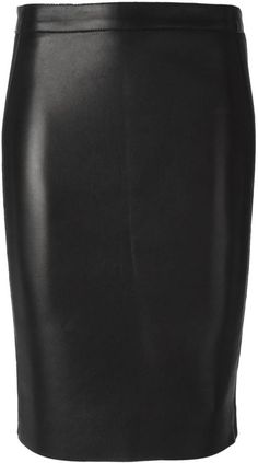 $837, Dsquared2 Leather Pencil Skirt. Sold by farfetch.com. Click for more info: https://lookastic.com/women/shop_items/140169/redirect