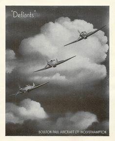 "RAF Empire Air Day, 1939 - Boulton Paul of Wolverhampton ""Defiants"" advert"