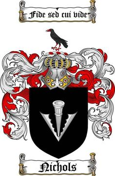 NICHOLS FAMILY CREST - COAT OF ARMS gifts at www.4crests.com