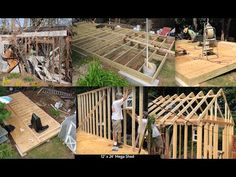 DIY How to Build 12' x 24' Mega Shed Shack Tiny House Garage Foundation Footers Framing Roof Truss 1 - YouTube