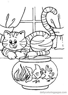 cat coloring pages cute cat coloring pages 001