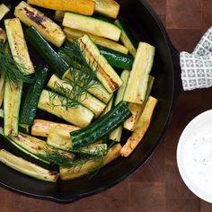 Zucchini with Yogurt-Dill Sauce