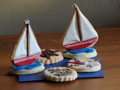 Sailing cookies. Sailing, Sugar, Cookies, Desserts, Food, Candle, Crack Crackers, Tailgate Desserts, Deserts