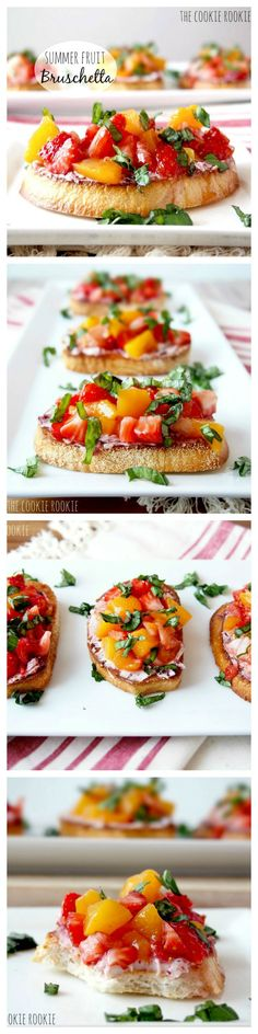 Summer Fruit Bruschetta Recipe. Perfect to do on the grill too! #FoodieGems