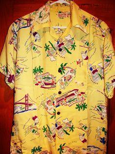 5c4f9f994 Pacific Sportswear - 40s Malihini Rayon Vintage Hawaiian Shirt -  TheHanaShirtCo