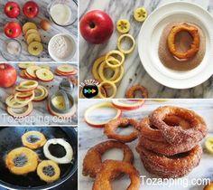 Anillos de manzana con canela. Si lo ha intentado todo para que su familia coma frutas, quizá no ha probado estos anillos de manzana con canela.En Tozapping