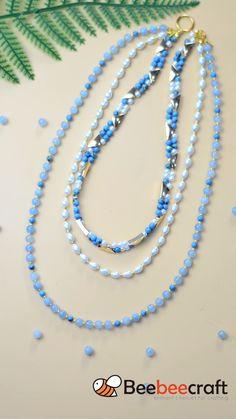 Handmade Wire Jewelry, Beaded Jewelry Designs, Diy Crafts Jewelry, Diy Jewelry Necklace, Bead Jewellery, Jewelry Making Beads, Beaded Necklace, Diy Bracelets Patterns, Diy Bracelets Easy