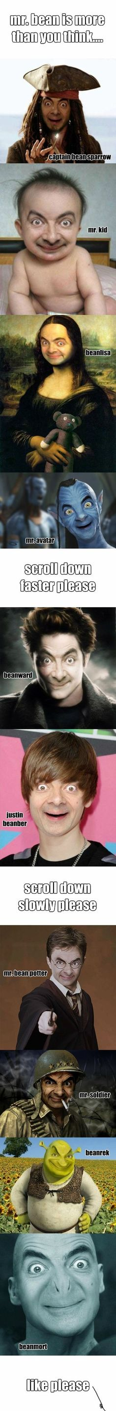 Mr. Bean... This is hilarious, i think i peed a little