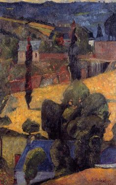 Landscape by @paulserusier #synthetism