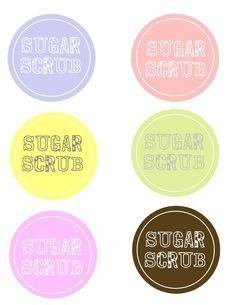 Free Diy Round Homemade Sugar Scrub Labels