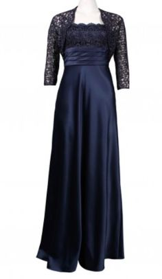ADRIANNA PAPELL Strapless Lace & Satin Gown with Bolero