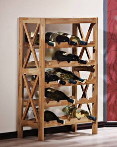 Scaffale portabottiglie «Vino» (5 ripiani) - Royal Oak - Serie - JYSK