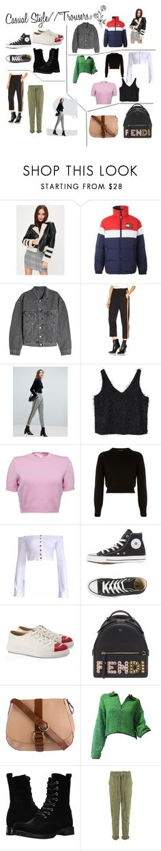 """""""Csaul Style //Trousers\\"""" by m-nighallachoircnc on Polyvore featuring Missguided, Tommy Hilfiger, Yeezy by Kanye West, Adaptation, Bershka, MANGO, Helmut Lang, Charlotte Olympia, Fendi and Salvatore Ferragamo"""