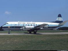 British Midland Airways - BMA G-BFZL Vickers 836 Viscount aircraft picture