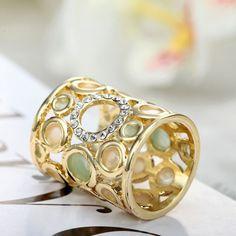 Spona na šatku – Circles - zlatá