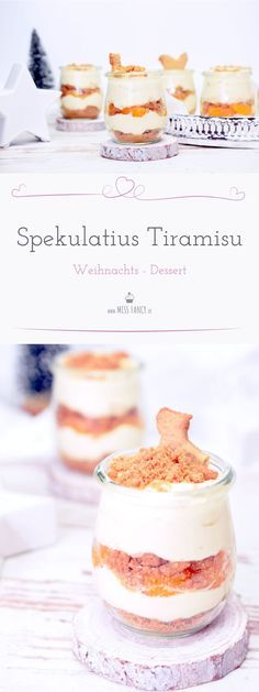 Here is a recipe from a super tasty tiramisu with homemade baked spec . - Here is a recipe for a super tasty tiramisu with homemade speculoos - Dessert Simple, Bon Dessert, Dessert Party, Winter Desserts, Fancy Desserts, Christmas Desserts, Fancy Recipes, Elegant Desserts, Christmas Recipes