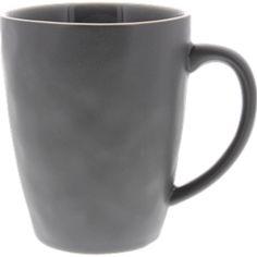 Genius-Design Fr/ühst/ück Keramik Schwarze Tasse 32 cl