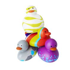 Kids are all different shapes and sizes, shouldn't rubber ducks come that way too? Meet Slim, Bob, Jane and Squish. We're not trying to encourage a rubber ducky smackdown, but ODD DUCKS are PVC-free, unlike those other mucky ducks. And ours do not hold water, so they won't grow that black mold that kids always try to suck out.