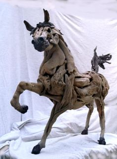 My 1st driftwood horse
