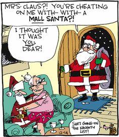 Mall Santa Christmas Jokes, Christmas Cartoons, Christmas Fun, Country Christmas, Funny Cartoon Pictures, Cartoon Jokes, Funny Cartoons, Funny Holiday Cards, Funny Cards
