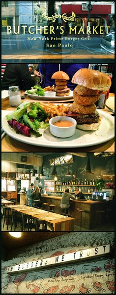 The perfect marriage between the incredible Brazilian beef and the NY burger experience. This is Butcher's Market: a neighborhood burger-joint-bar, warehouse-like decorated and already awarded in Sao Paulo. Ask for the giant OT-Burger and the Tapioca. 5 stars! @ Itaim 164, Rua Bandeira Paulista.