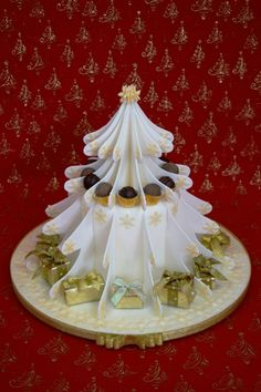 White Christmas - Cake by Mandy's Sugarcraft