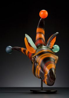 Tangerine Jester, 2009 | Menagerie Series | Shelley Muzylowski Allen | Blown & Hand-Sculpted Glass | Photo by KP-Studios.com