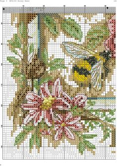 GOLDEN BEE Chart Counted Cross Stitch Pattern Needlework Xstitch
