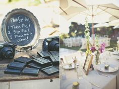 Registration / Elegant Rustic Malibu Wedding