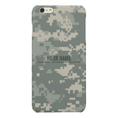 75fcf1defabb Army ACU Camouflage Customizable Glossy iPhone 6 Plus Case Custom Brandable  Electronics Gifts for your buniness