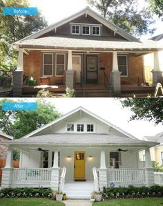 Home Renovation Exterior Before and After: A Dilapidated Shocker Craftsman Home Rehabilitation in Houston Renovation Facade, Home Renovation, Home Remodeling, Small House Renovation, Home Exterior Makeover, Exterior Remodel, Home Design, Before After Home, House Makeovers