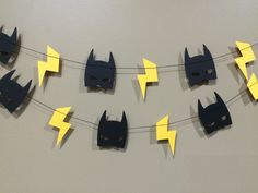 Batman Mask & Lightning Bolt Garland 3ft banner by RadPaperCo