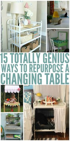 15 Totally Genius Ways to Repurpose a Changing Table