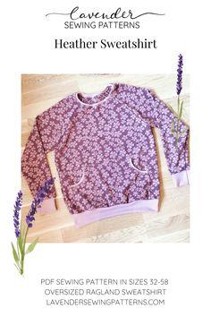 Pdf Sewing Patterns, Jumper, Lavender, Tunic, Cozy, Pocket, Crop Tops, Sweatshirts, Winter