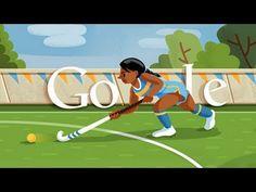 London 2012 Hockey - Google Doodle
