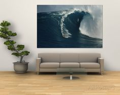 A Surfer Rides a Powerful Wave off the North Shore of Maui Island Wall Mural by Patrick McFeeley at AllPosters.com