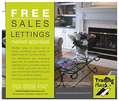 Offer a free sales or letting market appraisal with this leaflet design